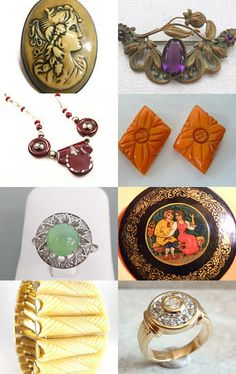 Antique and Vintage Jewelry - Friday Pounce - VJSE Treasury by Tiffany on Etsy--Pinned with TreasuryPin.com