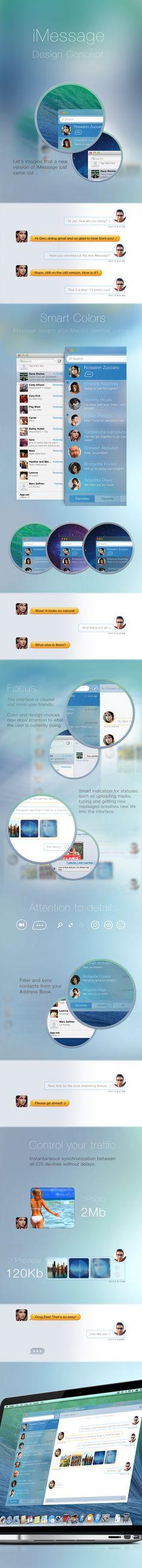 Messages.app Concept #interface #ui #ux #gui #app #flatdesign #dribbble #behance #inspiration #mobile #ramotion #application #appdesign