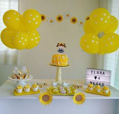 diy decorations « Decor Diy Best in 2020 Simple Birthday Decorations, Diy Party Decorations, Baby Shower Decorations, Yellow Birthday Parties, First Birthday Parties, First Birthdays, Sunshine Birthday, Baby Birthday, Sunflower Party