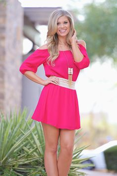 Come A Little Closer Dress - Fuchsia from Closet Candy Boutique