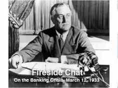 FDR First Fireside Chat 1933 Banking