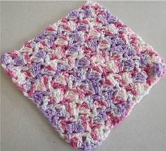 Snapdragon Stitch Dishcloth.  Barb's Free Crochet Patterns.  Free pattern