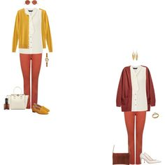 Ivory bow blouse/rust jeans 2 by tracy-gowen on Polyvore featuring мода, Dorothy Perkins, Banana Republic, M&Co, Office, L.K.Bennett, Valentino, Kenneth Jay Lane and Oliver Peoples