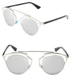 e0a8110a80 Dior  So Real  48mm Silver Mirrored Sunglasses Palladium Crystal Silver  Mirror. Free. Tradesy