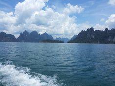 Unwinding at the blissful #CheowLanLake. #GrabYourDream #TravelAdventurer #Thailand #Travel #Adventure