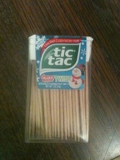 Toothpicks in a tic tac container perfect for camping :)