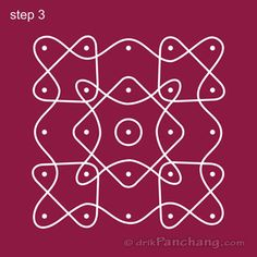 This page provides Dot Rangoli Designs with title Dot Rangoli 12 for Hindu festivals.