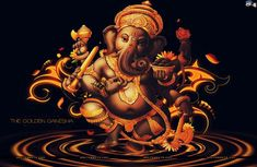 There are Lord Ganesha 108 Names. These 108 names of Ganpati are known as Ganesha Namavali. Each Ganesha Name unique meaning describes management of life Ganesh Chaturthi Images, Happy Ganesh Chaturthi, Ganesh Wallpaper, Hd Wallpaper, Wallpapers, Lord Ganesha Names, Indiana, Sidereal Astrology, Om Gam Ganapataye Namaha