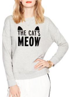 'the cat's meow' sweater