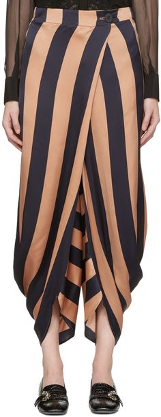 Stella McCartney - Navy Striped Fluid Trousers