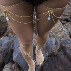 Anklets Multilayer Leg Chain Tassel Water Drop Turquoise Pendant Women Thigh Body Jewelry - Item Type: Body Jewelry Fine or Fashion: Fashion Style: Fashion Body Jewelry Type: Belly Chains Material: Zinc Alloy Metals Type: Zinc Alloy Shapepattern: W Leg Chain, Body Chains, Body Jewellery, Turquoise Pendant, Bare Foot Sandals, Anklets, Anklet Bracelet, Boho Fashion, Style Fashion