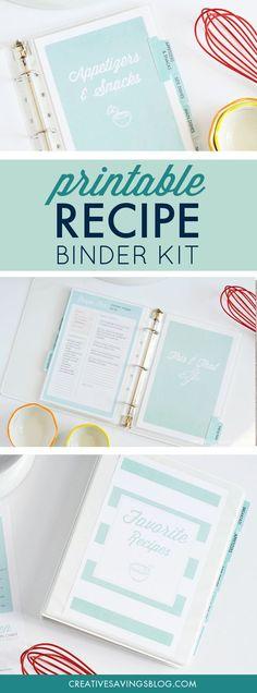 Binder Organization, Recipe Organization, Organizing Labels, Organising, Organizing Documents, Bullet Journal Ideas, Dream Recipe, Recipe Binders, Recipe Filing