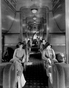 pullman dawne wagony, dawne pociągi, historia kolei zdjęcie z 1926 roku.