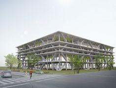 建築家・谷尻誠 suppose design office  『八王子の立体駐車場+商業施設』  http://www.kenchikukenken.co.jp/works/1042811417/3836/  #architecture