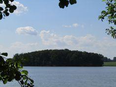 an island on the lake