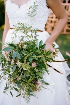 A greenery bouquet: http://www.stylemepretty.com/little-black-book-blog/2015/03/17/emerald-copper-irish-wedding-inspiration/ | Photography: Jenna Henderson - http://jennahenderson.com/