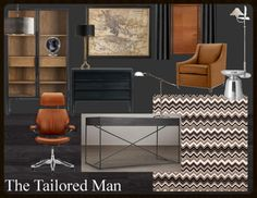 Design Plan | A Home Office For The Tailored Man — DESIGNED w/ Carla Aston