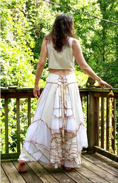 Skirt Corset Back Summer Whites DREAMY Laces & by AuraGaia on Etsy, $199.00