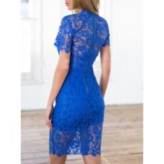 Royal Blue Lace Drrss New never used. Only comes in medium. Dresses Midi