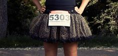 Ok, I might have to train for another fun run JUST to justify buying one of these: Tough Girl Running Tutu - leopard print. $29.99, via Etsy.