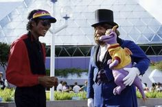 I only posted this... Because we totally got a Figment from Disney World! And it was kind of a huge deal in our family. Michael Jackson,Dreamfinder & Figment