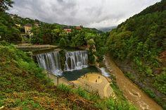 Pliva waterfall, Jajce, Bosnia and Herzegovina by Elenarts - Elena Duvernay photo Famous Places, Bosnia And Herzegovina, Travel Photos, Fine Art America, Waterfall, Places To Visit, Europe, World, Nature