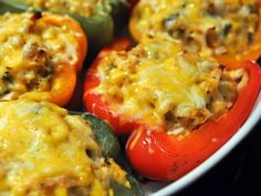 Chicken And Cheese Stuffed Peppers