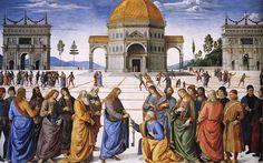 """Ten Biblical Reasons Christ Founded the Papacy""  Pietro Perugino - Entrega de las llaves a San Pedro (Capilla Sixtina, Roma, 1481-82)"