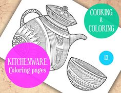 Adult Coloring Pages Kitchen coloring book Mocha Coffee