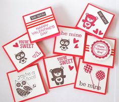 Kids Valentine's Card Set for Classroom exchange by fishcouple