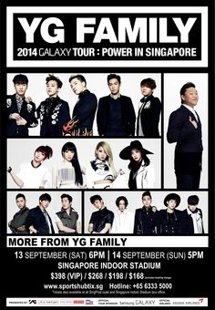 """""""YG Family  2014 Galaxy Tour: Power In Singapore"""" First Time In Singapore! http://www.kpopstarz.com/articles/99471/20140715/yg-family--2014-galaxy-tour-power-in-singapore-first-time-in-singapore.htm"""