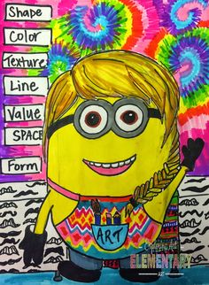 Art. Eat. Tie Dye. Repeat.: Minion Self Portraits--The Best Sub Plan EVER!