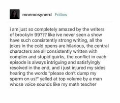 - funny photo of people Brooklyn Nine Nine Funny, Charles Boyle, Jake Peralta, Parks N Rec, Best Shows Ever, Make Me Happy, Tv Shows, Hilarious, Fandoms