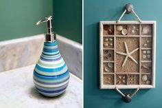 Wall Decor Idea for Bathroom by InDesign Interiors. Coastal Homes, Coastal Decor, Best Interior Design, Interior Decorating, Seashore Decor, Modern Wall Decor, Design Projects, Home Furnishings, Home Accessories