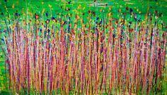"For Sale: Abstract Fantasy Spectra by Nestor Toro | $2,000 | 60""w 32""h | Original Art | https://www.vangoart.co/nestor-toro-abstracts/abstract-fantasy-spectra @VangoArt"