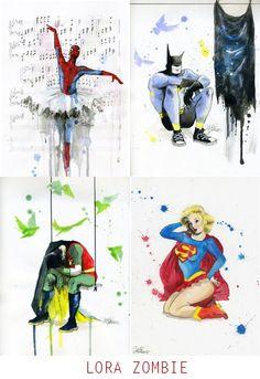 Otras facetas de superhéroes y superheroínas