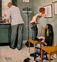 Original Norman Rockwell Paintings | Doctor by Norman Rockwell