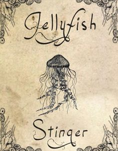 Halloween Potion Labels - Jellyfish Stinger