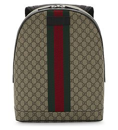 GUCCI Gg Web Supreme Backpack. #gucci #bags #leather #canvas #backpacks #