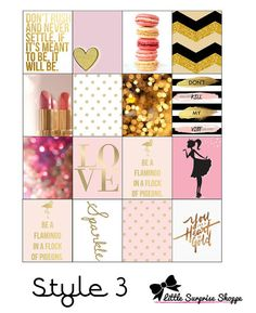Fashion Icon Erin Condren Stickers by LittleSurpriseShoppe on Etsy
