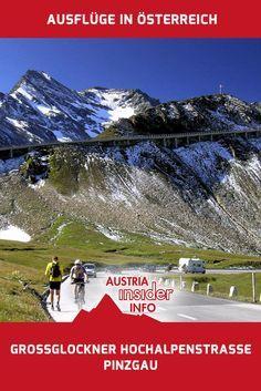 Die Großglockner Hochalpenstraße zählt zu den beeindruckendsten Alpenstraßen und führt an den Fuß des höchsten Berges Österreichs, dem Großglockner (3798m). Reisen In Europa, Austria, The Good Place, Road Trip, Around The Worlds, Hiking, Mountains, Places, Nature