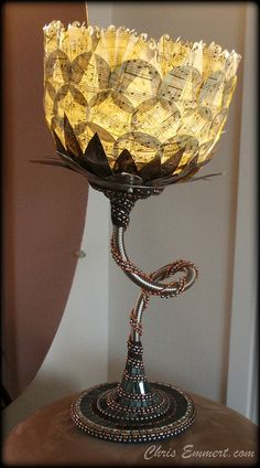Music Mosaic Lamp by Chris Emmert, via Flickr