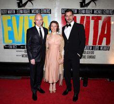 EVITA Opening Night: Michael Cerveris, Elena Roger and Ricky Martin