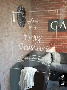 bijdeb: Kerst raam decoratie...