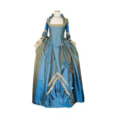 Untitled found on Polyvore featuring polyvore, women's fashion, clothing, dresses, costume, blue, gowns and historical