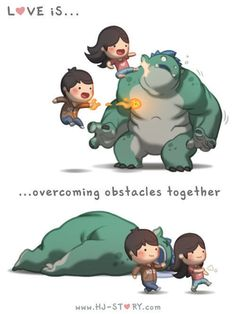 Love Is. Illustrations from HJ-Story Love Is. Illustrations from HJ-Story Hj Story, Love Cartoon Couple, Love Couple, Chibi Couple, Couple Stuff, Couple Goals, Cute Love Stories, Love Story, Couple Quotes