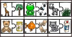 Puzzles, Body Parts Preschool, Tame Animals, English Exercises, English Worksheets For Kids, Tracing Worksheets, Baby Learning, Speech Therapy, Diy Crafts For Kids