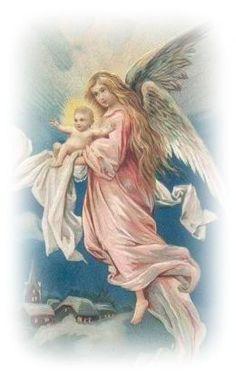 Free Vintage Christmas Angels Clip Art