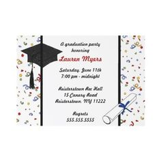 Free graduation party printables pinterest party invitations confetti grad cap diploma 2011 invite from httpzazzlegraduation partyinvitations filmwisefo