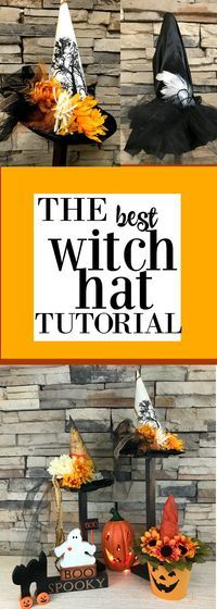 Easy Witch Hat Tutorial plus a ton of theme ideas and printables!